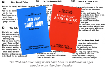 Red and Blue song books
