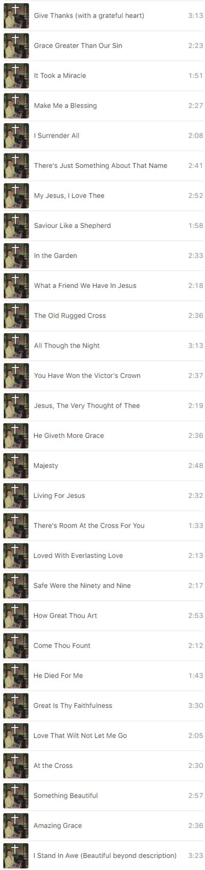 List of Hymns and Choruses