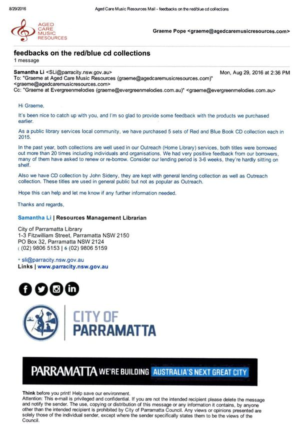 Samantha Li - Parramatta Library Resources Management Librarian