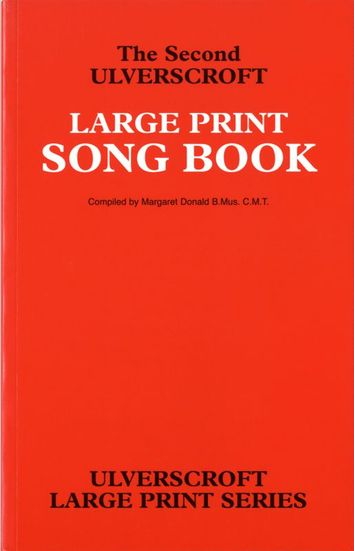 Red Large Print Song Book