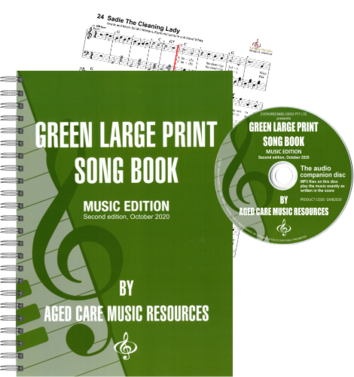 Green Large Print Song Book Music Edition Second Edition