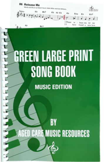 Green Large Print Song Book Music Edition