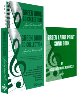 Green Book CD Collection and Green Large Print Song Book
