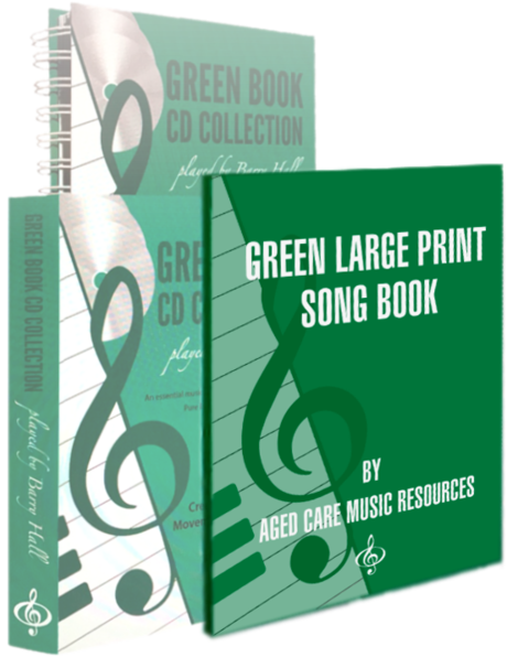 GREEN LARGE PRINT SONG BOOK
